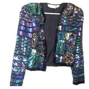 Laurence Kazar Jackets & Coats - Sequin jacket